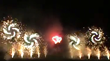 Wedding, pyroshow