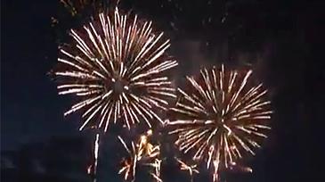 Fireworks on a wedding